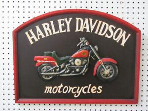 Wooden Harley Davidson Wall Sign