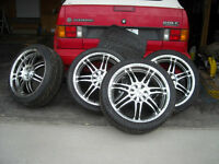 205/40/17 tires and Core racing Rims 200kms only