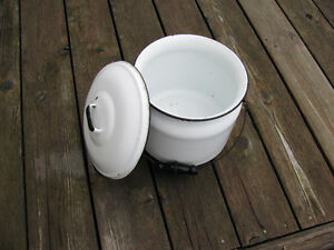Antique white chamber pot circa 1920