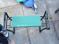Foldable Padded Garden Kneeler and Seat