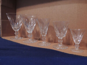 Waterford crystal Eilleen pattern 12 place setting 60 glasses