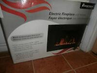 Foyer électrique avec télécimande