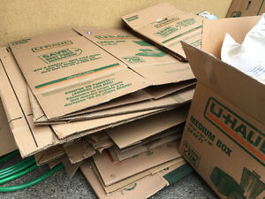 UHaul & Home Depot moving boxes - good used condition