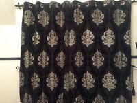 Damask eyelet curtains