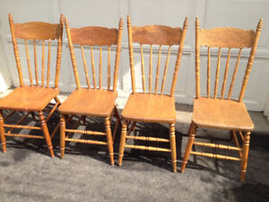 Antique Pressed Back Chairs