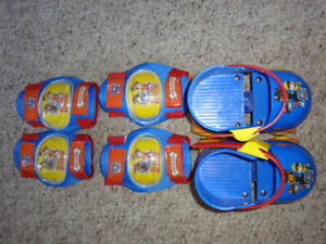 Paw Patrol Kids' Roller Skates with Knee Pads