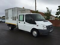 Ford transit 100 t350 double cab caged tipper, 2010 (60) reg, 1 council owner from new, 46th miles,