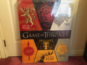 New in wrap Game of Thrones canvas board; Xmas gift