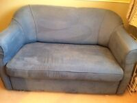 2 Seater Sofa Bed Blue