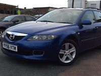 2007 (56) MAZDA 6 TS2 D 143 ESTATE DIESEL, BLUE, (FINANCE AVAILABLE)