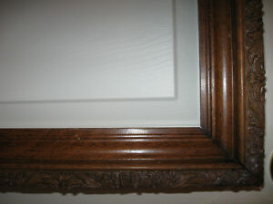 BEAUTIFUL OLD ANTIQUE SOLID WALNUT PICTURE FRAME [25.5 x 35]
