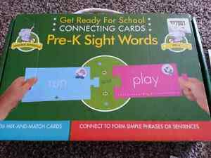 Sight word puzzle cards