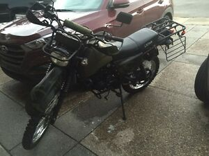 2010 ZStar Dual purpose motorcycle. New battery. Low kms.