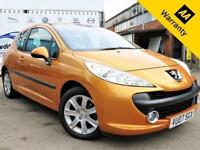 2007 07 PEUGEOT 207 1.6 SPORT 3D 89 BHP! P/X WELCOME! LOW MILEAGE! CHAIN DRIVEN!
