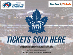 Toronto Maple Leafs Single Game Tickets ~ for all 2018/19 games!