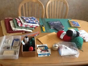 Quilting, knitting, sewing items .. A Crafter's Delight !