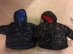 Two new with tags old navy size 6-12 month winter jackets