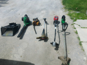 Weed eater leaf blower chainsaw roto tiller