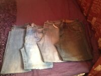 7 pairs of new and used good named jeans