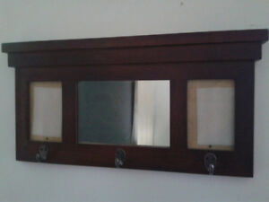 Wallmount coathooks with mirror and pic frames