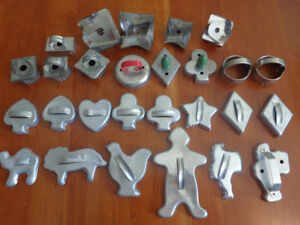 Vintage Cookie & Biscuit Cutters:  27 for $10.00!