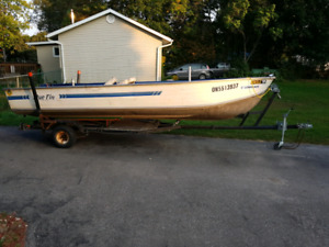 16' aluminum fishing or hunting boat with trailer