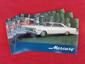 1966 MERCURY MONTCLAIR 2-DR NOS Dealer Promo Postcard
