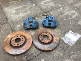Astra vxr front brake callipers and discs bargain