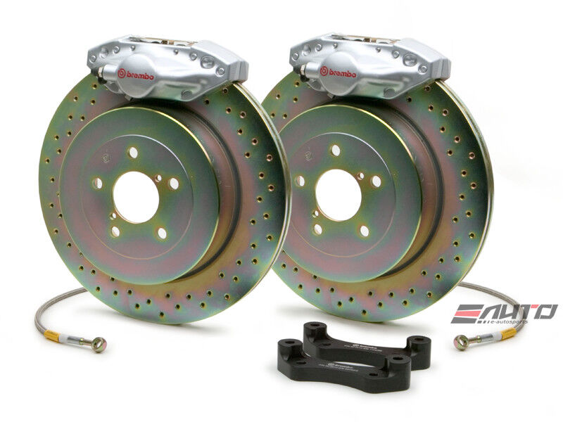Brembo Rear Gt Big Brake Bbk 2piston Silver 294x19 Drill Bmw E46 320 323 325 328