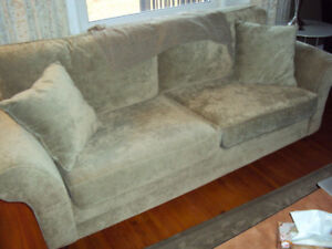 couch- chair with full size ottoman