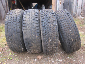 4 snow tires from Honda Element 225 70R16 and 215 70R16 Kingston Kingston Area image 2