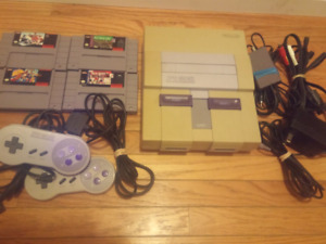 SNES with 4 Games