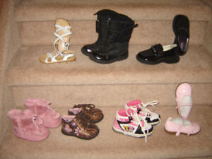 Baby and Toddler Girls Footwear - sz 3 to 8, Boys Boots sz 10