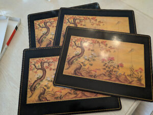 Pimpernel Placemats - Set of 4 - Chinese Screen Pattern