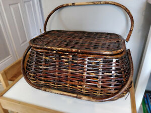 Wicker/Bamboo Picnic Basket