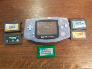 Gameboy Advance with 6 Games INCL Pokemon Emerald & Ruby