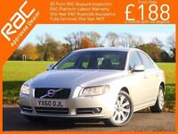 2010 Volvo S80 2.0 D3 Turbo Diesel 163 PS SE Geartronic 6 Speed Auto Bluetooth F