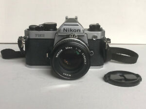 Nikon FM2 SLR film camera with Nikkor 50mm F1.4 lens