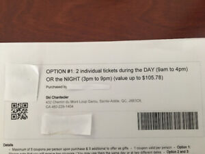 Ski tickets  for two