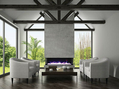"Amantii Panorama Series - 72"" 3 Sided Electric Fireplace - 72-TRU-VIEW-XL"