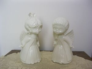 Ceramic Boy and Girl Angels & Dolphin Statue
