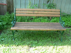 beau banc de parc antique # 5441
