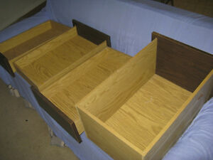 4 Well Built Dark Brown Desk Drawers