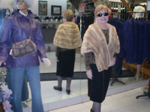 Pearl Mink stole in storage at the Fur Boutique London ON