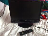 LG 19 inch TV with built in freeview