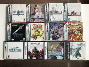 GAMEBOY ADVANCE AND DS GAMES Zelda, Final Fantasy and more