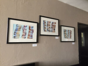 Professionally Framed, Original Watercolours BIRCHES