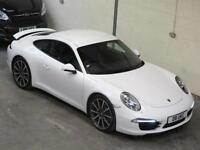 Porsche 911 Carrera S 991 3.8 Coupe in WHITE PDK 7 Speed Auto 400BHP FPSH