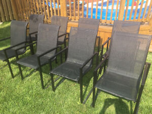 Set of 8 patio chairs /lawn chairs