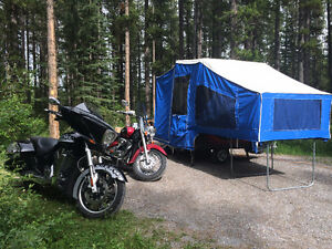 Time out motorcycle trailer